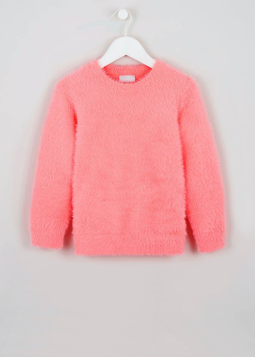 Girls Fluffy Jumper (4-13yrs)