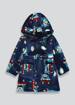 Kids Thomas The Tank Engine Dressing Gown (9mths-5yrs)