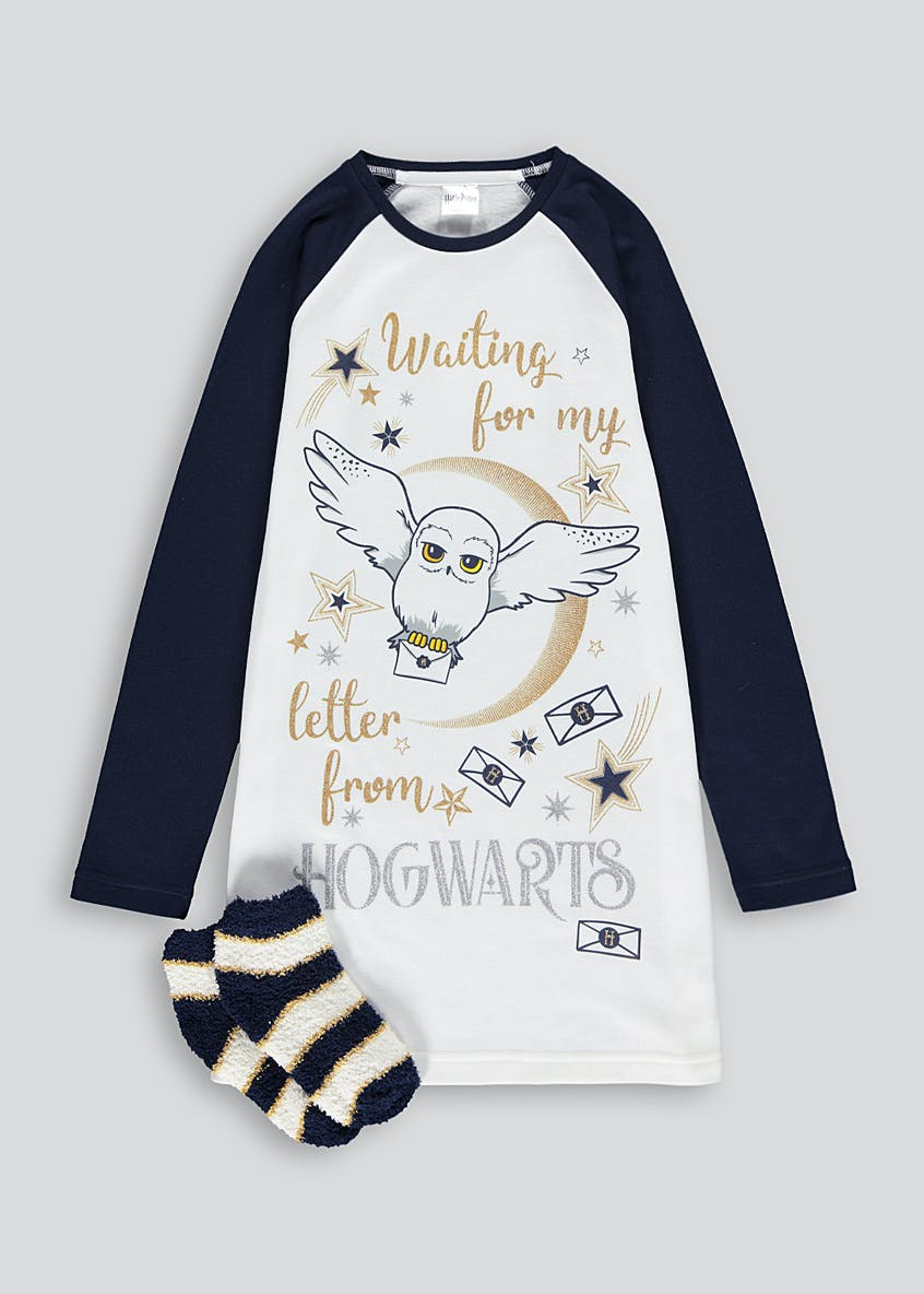 Girls Harry Potter Nightie and Socks Set (5-12yrs)