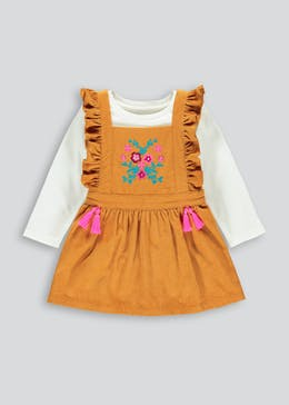 Girls Tassel Pinafore Dress & Top Set (9mths-6yrs)