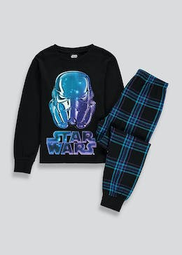 Kids Star Wars Checked Pyjama Set (4-11yrs)
