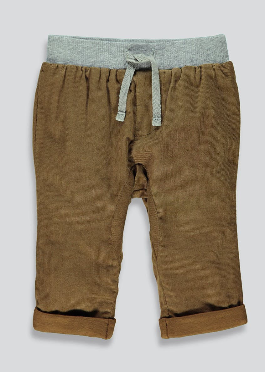Boys Cuffed Leg Cord Chino Trousers (Tiny Baby-18mths)