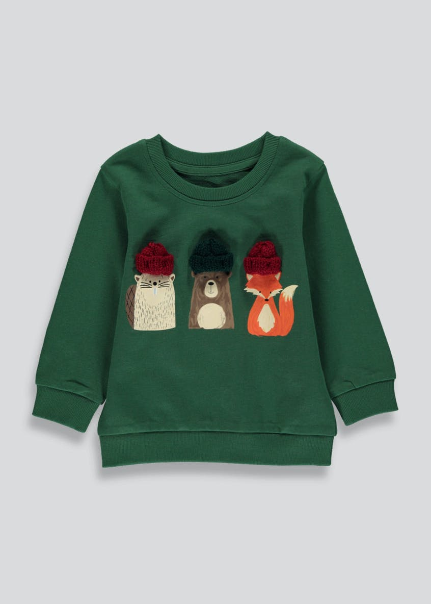 Boys Woodland Creatures 3D Sweatshirt (9mths-6yrs)