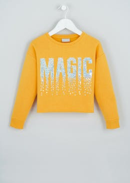 Girls Sequin Magic Slogan Sweatshirt (4-13yrs)