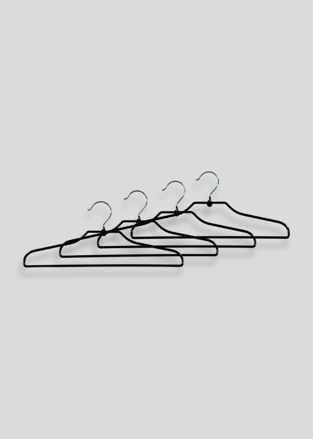 4 Pack PVC Coated Hangers (41cm)