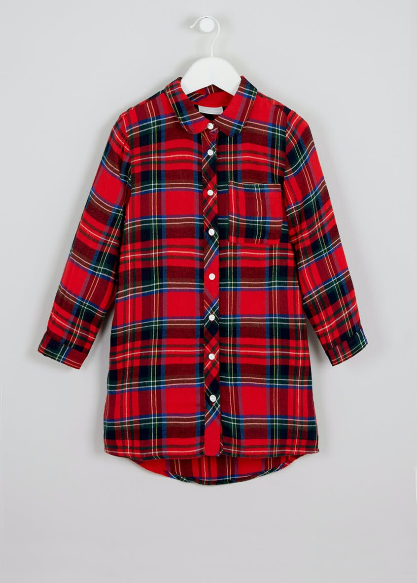 Girls Tartan Check Tunic Dress (4-13yrs)
