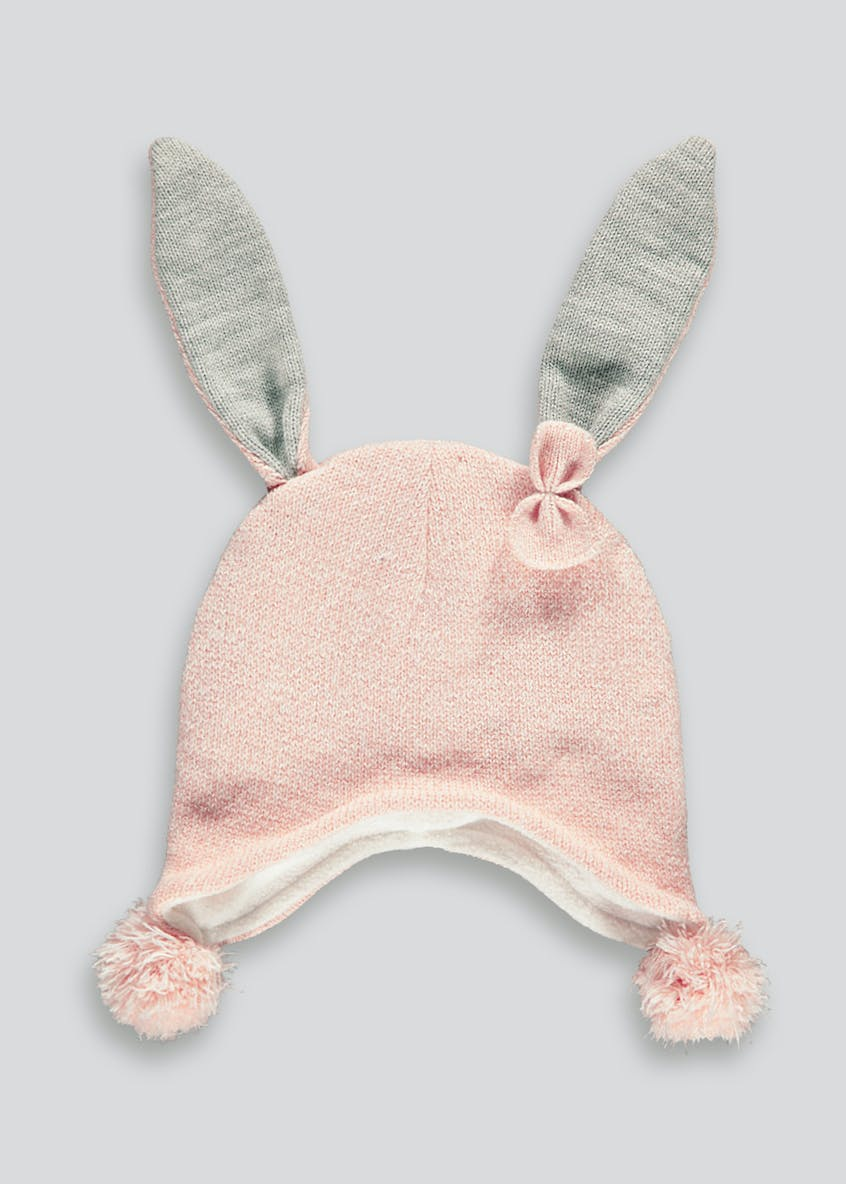 Kids Bunny Knitted Trapper Hat (One Size)