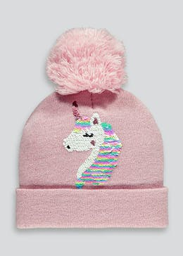 Unicorn Bobble Hat (3-6yrs)