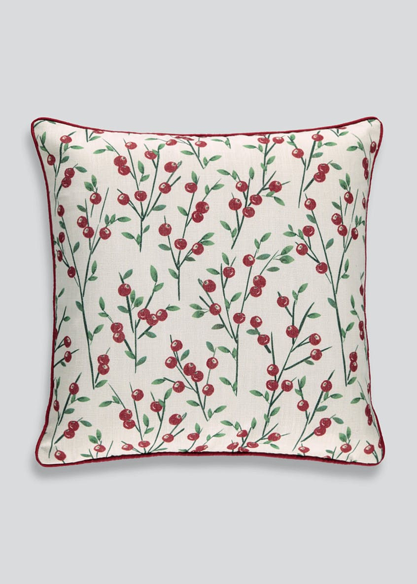 Christmas Berries Cushion (46cm X 46cm)
