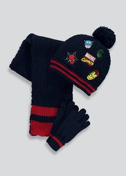 Kids Avengers Hat Scarf & Gloves Set (3-10yrs)
