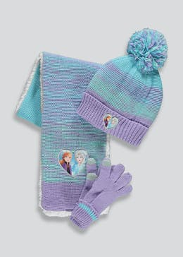 Kids Disney Frozen 2 Hat Scarf & Gloves Set (3-10yrs)
