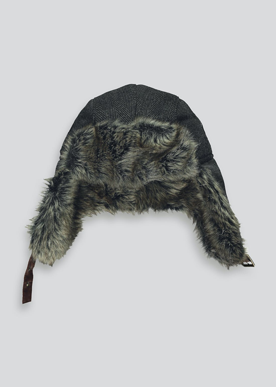 Quilted Faux Fur Lined Trapper Hat