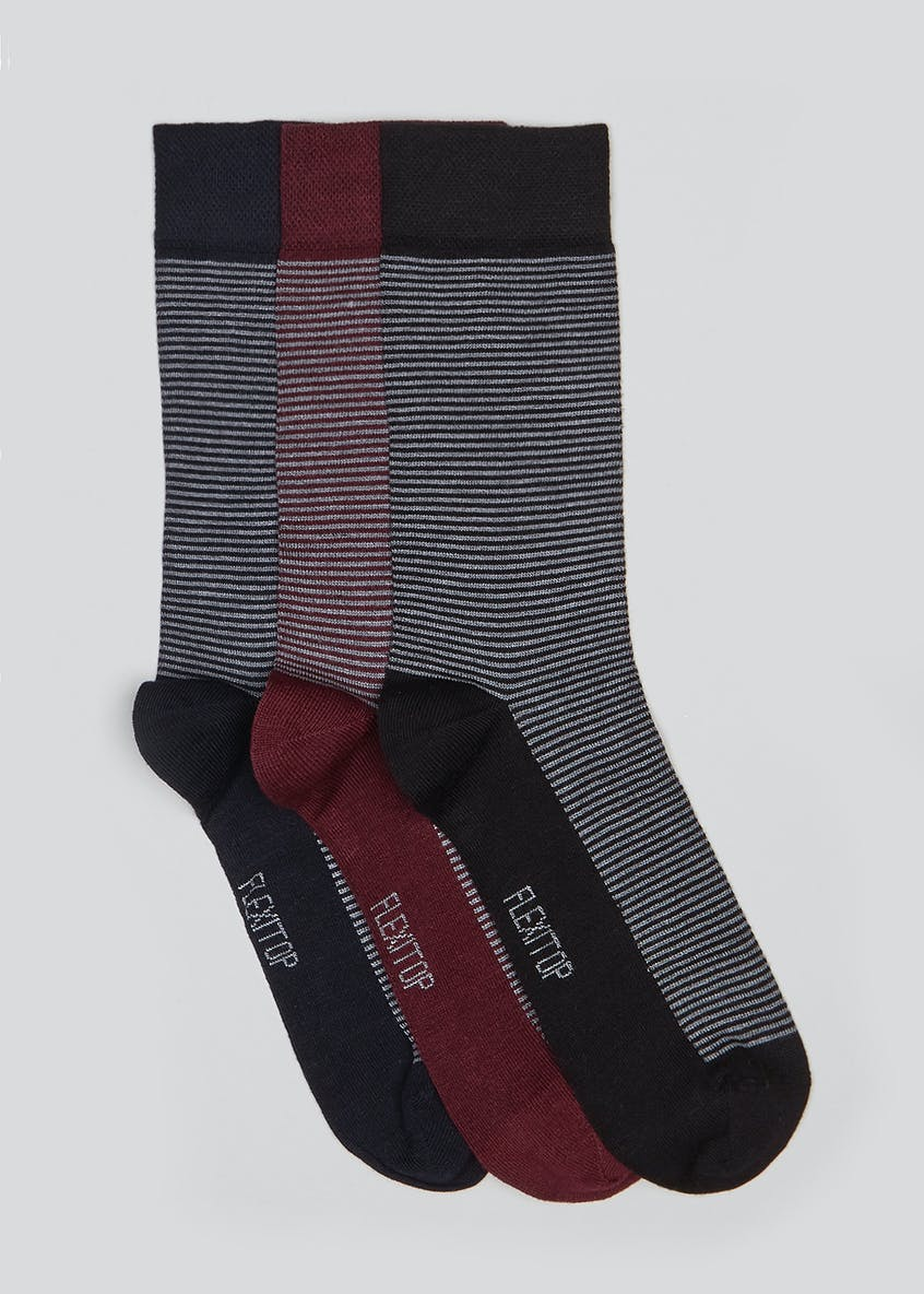 3 Pack Stripe Socks