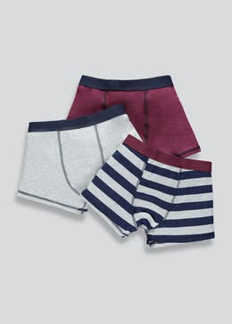 Boys 3 Pack Stripe Trunks (2-16yrs)