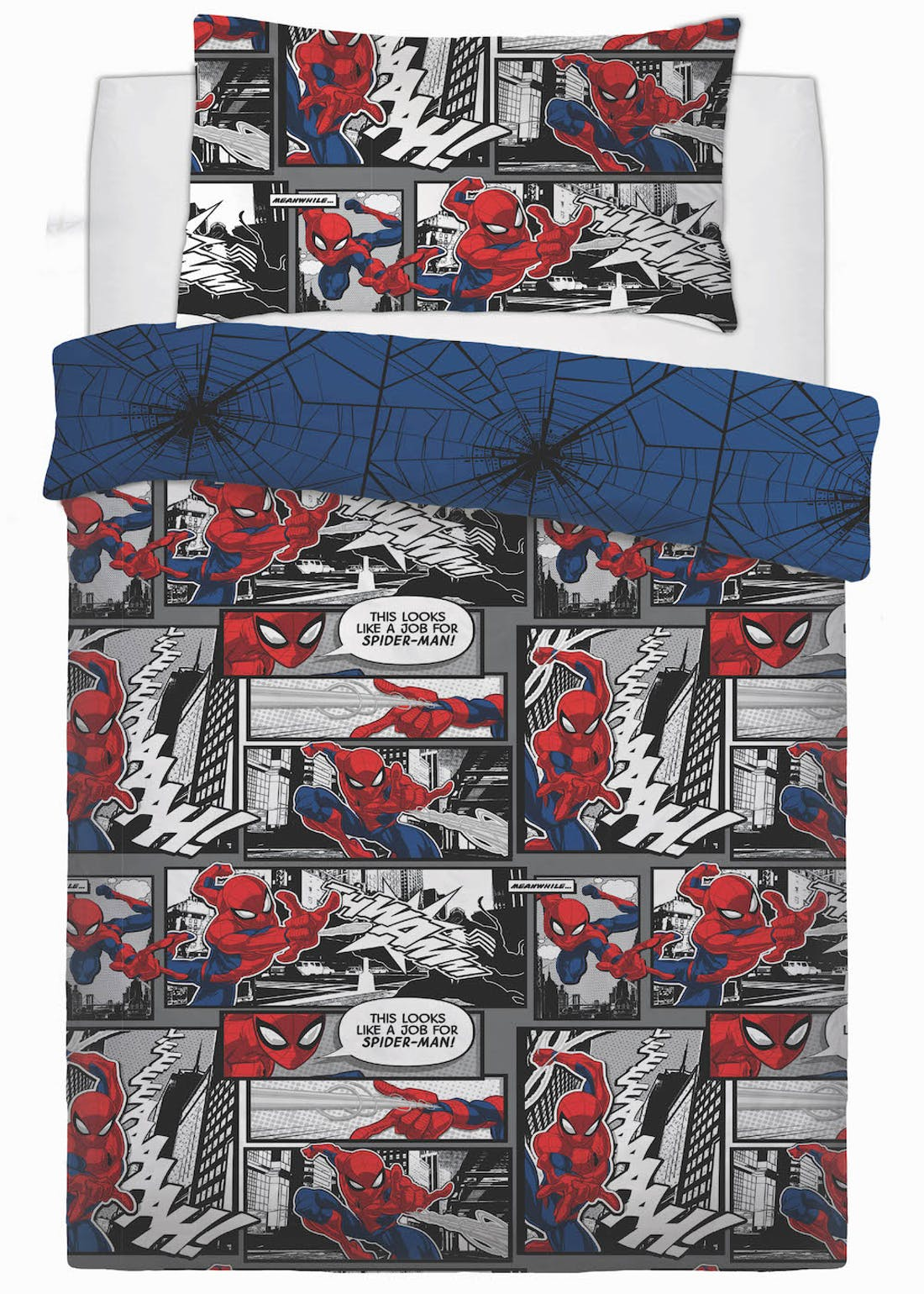 Kids Spiderman Duvet Cover (Single)