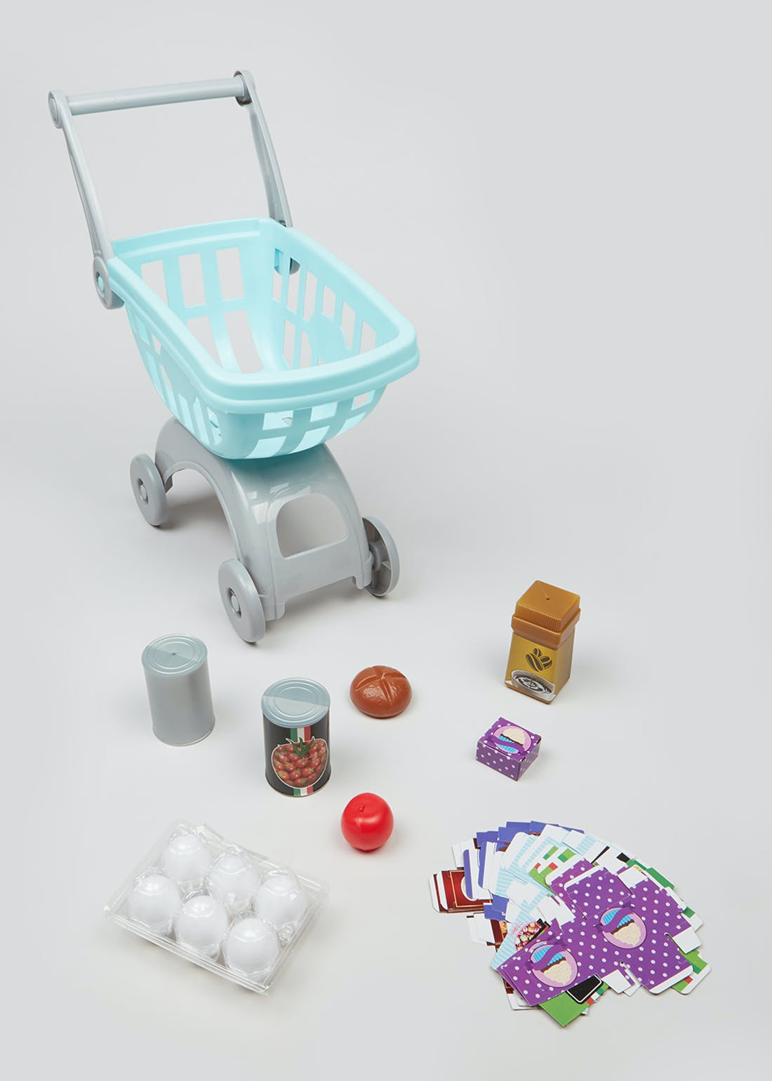 Kids Shopping Trolley Play Set (50cm x 40cm x 22cm)