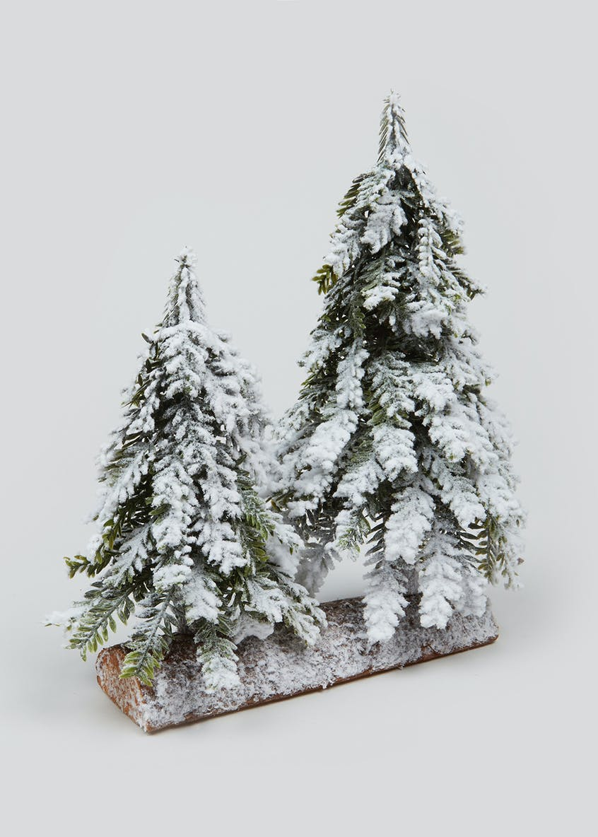 Mini Snowy Christmas Tree Ornament (27cm x 14cm)