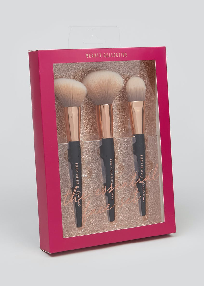 3 Piece Makeup Brush Set