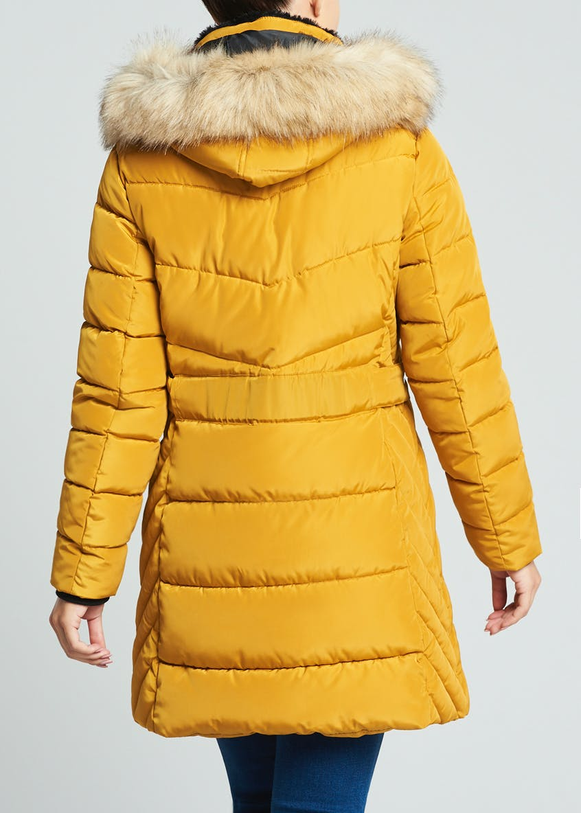 Yellow Padded Parka Coat
