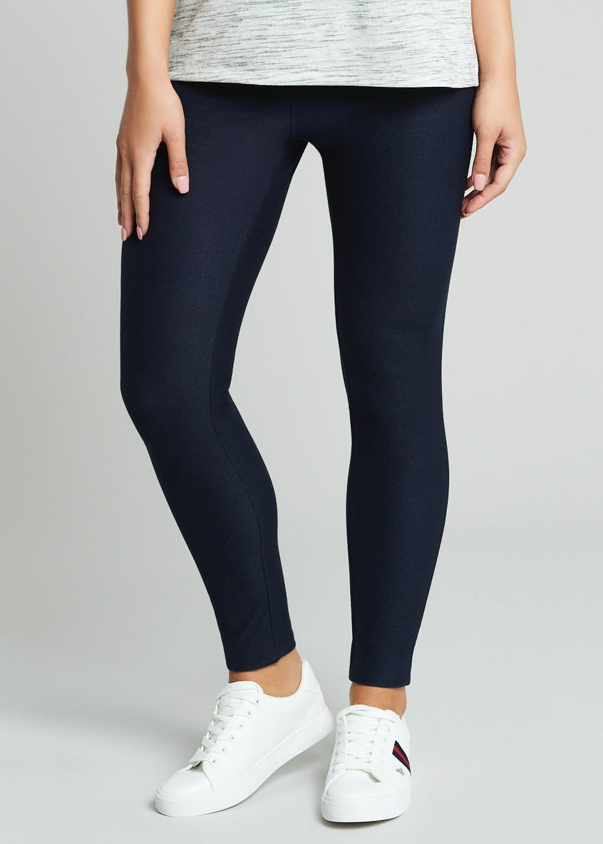 Ankle Length Denim Look Leggings
