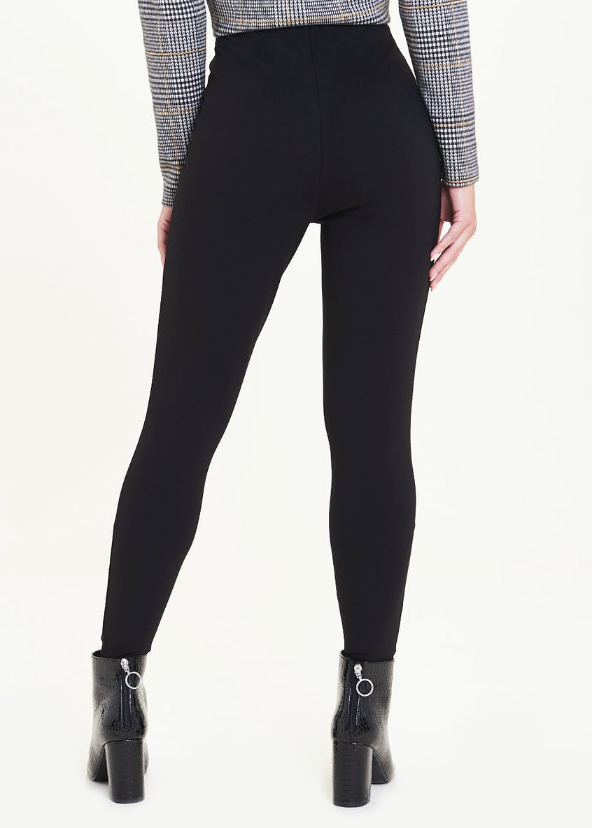 High Waisted Button Leggings