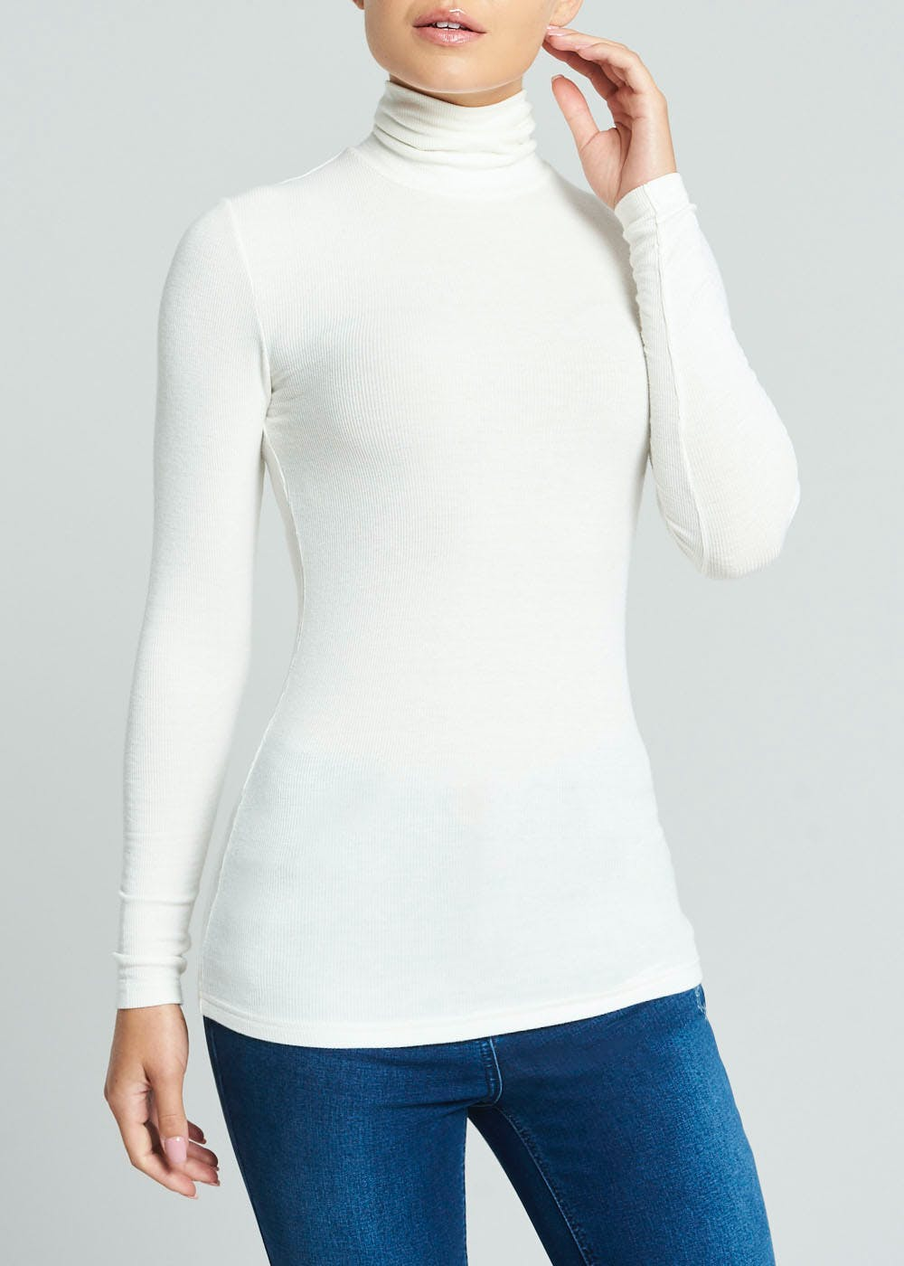 Tapestry ladies roll neck top