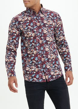Easy Black Label Slim Fit Floral Shirt