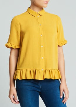 Frill Button Front Shirt