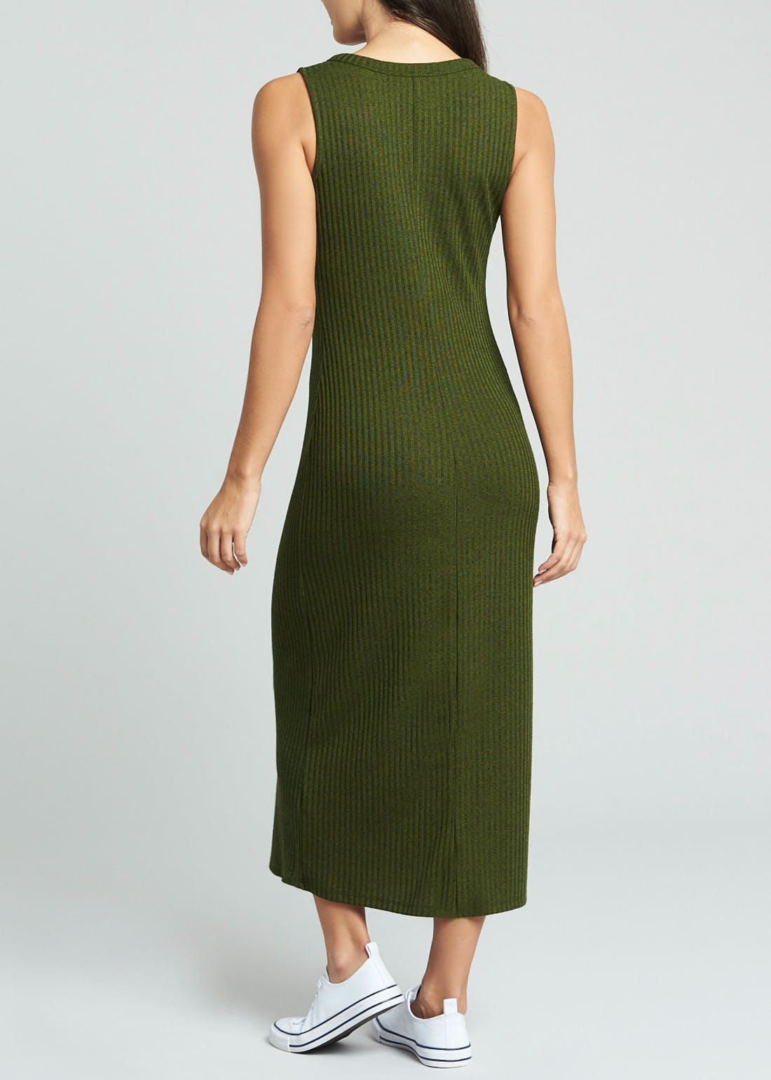 Ribbed Midi Dress