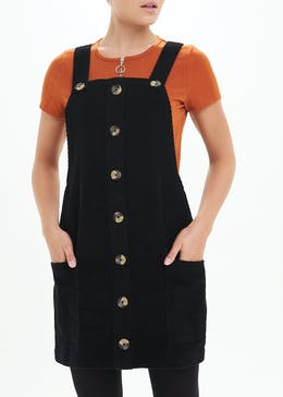Button Front Cord Pinafore