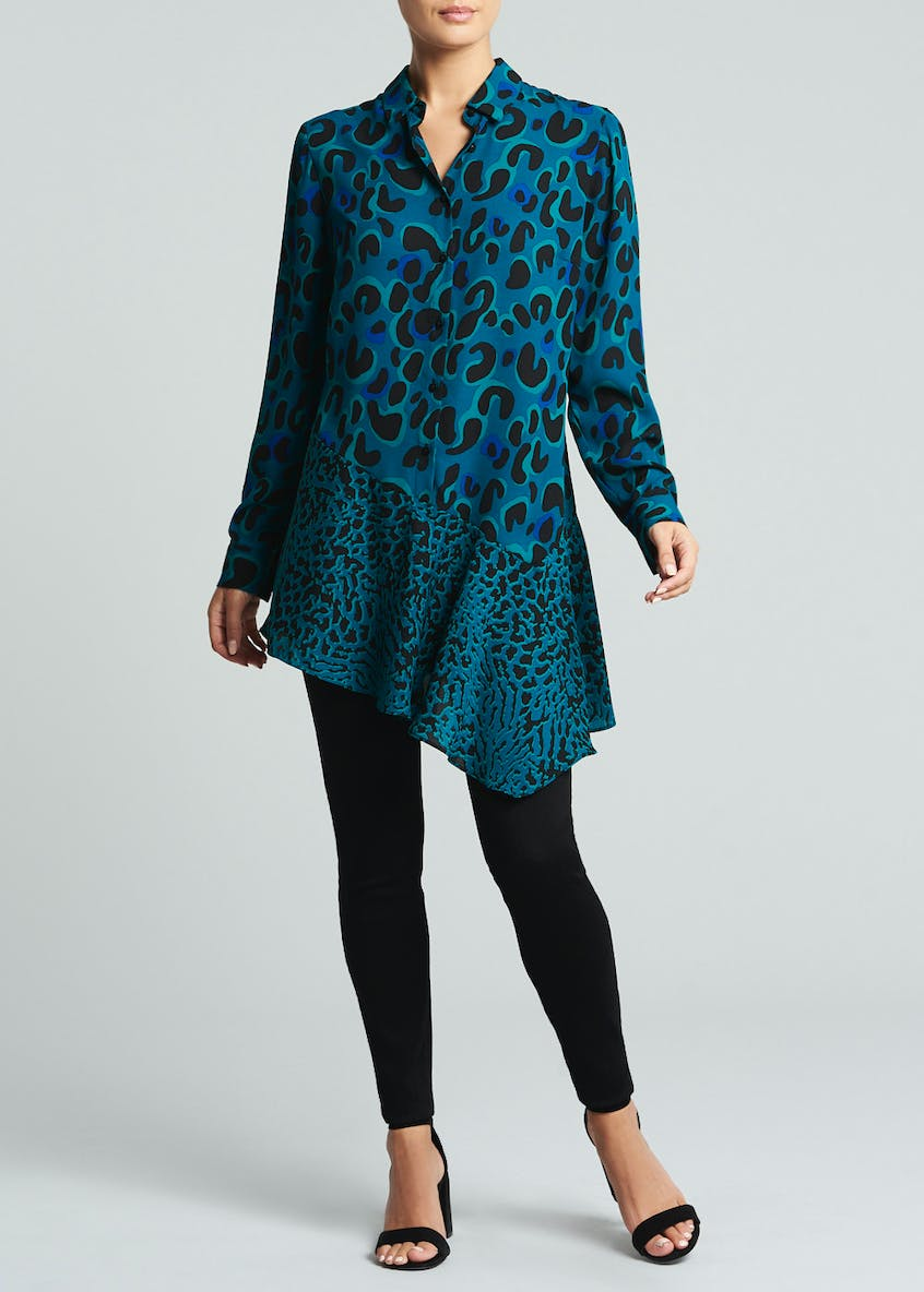 Soon Animal Print Asymmetric Hem Tunic