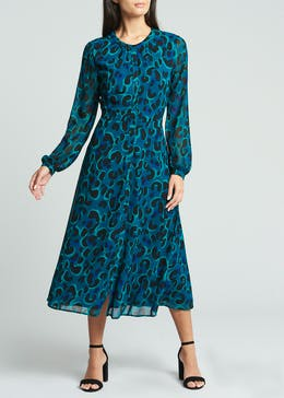 Soon Animal Print Midi Dress