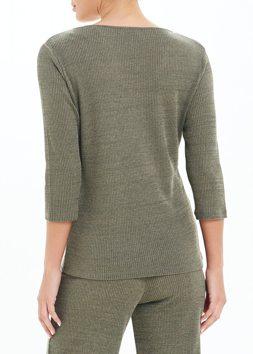 Ribbed Lounge Co-Ord T-Shirt