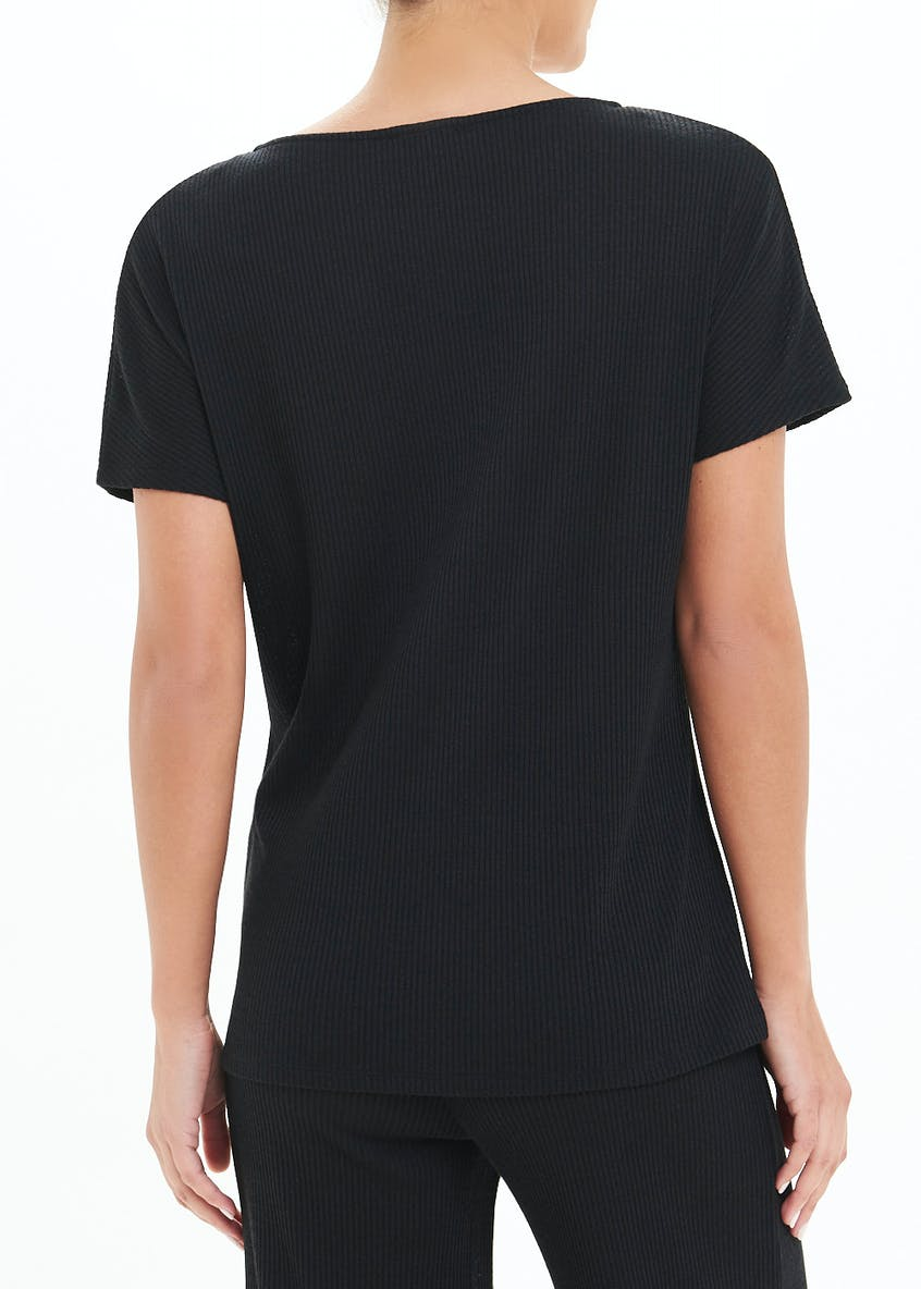 Ring Tie Front Lounge Co-Ord T-Shirt