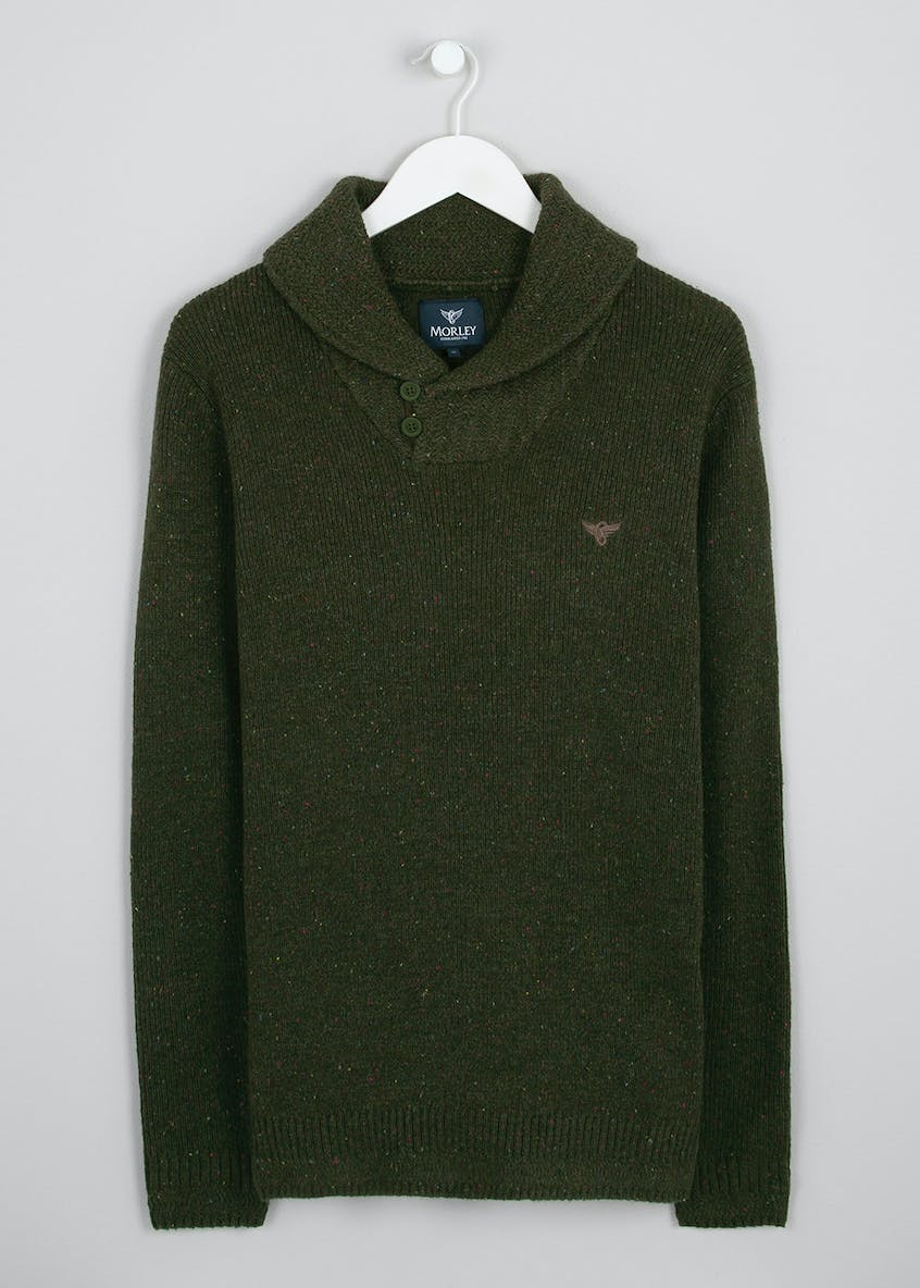 Morley Lambswool Shawl Neck Jumper