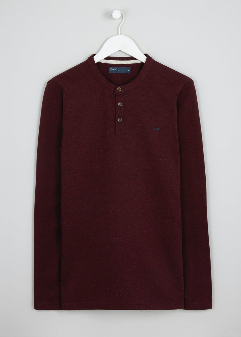 Grandad Collar Long Sleeved Top