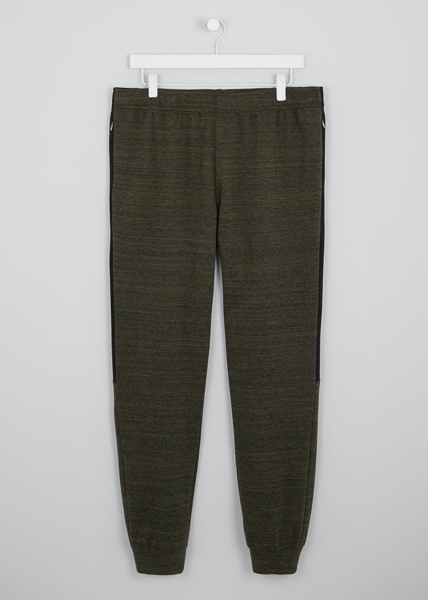 Souluxe Khaki Panelled Jogging Bottoms