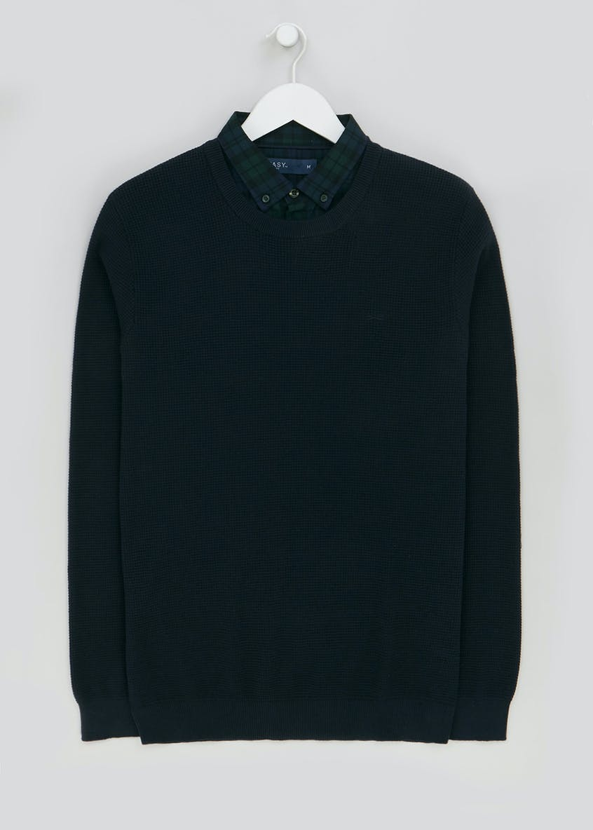 Mock Shirt Jumper