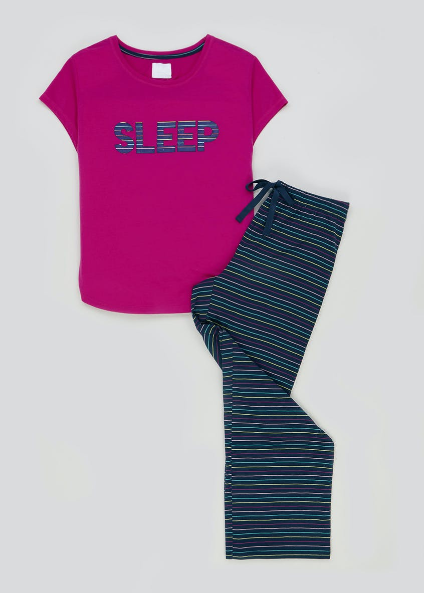 Sleep Slogan Pyjama Set
