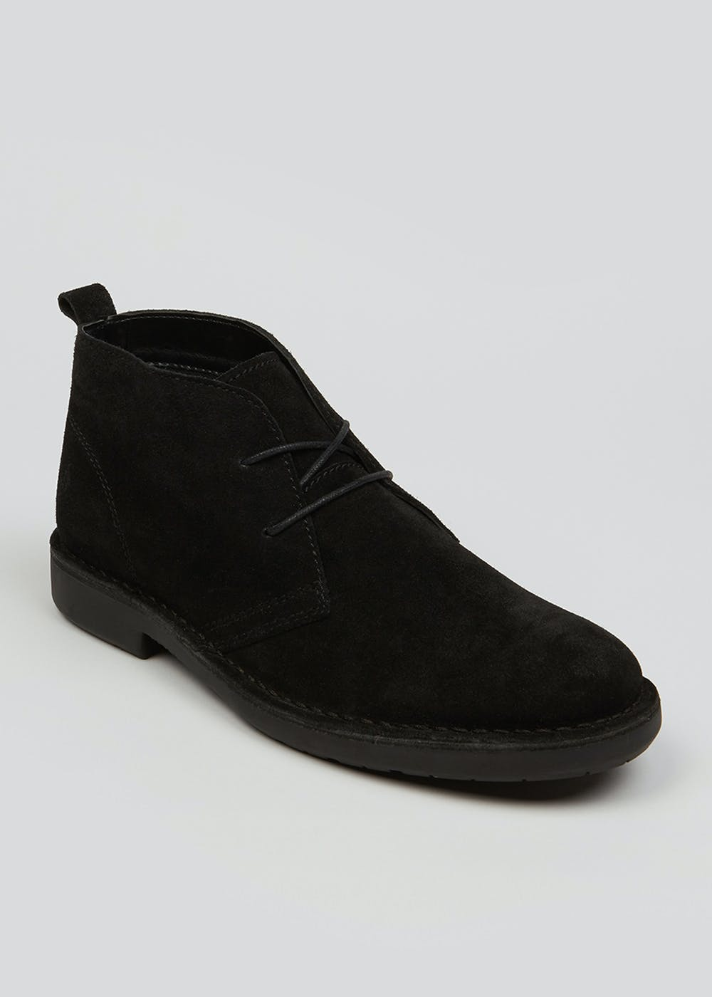Real Suede Desert Boots – Black