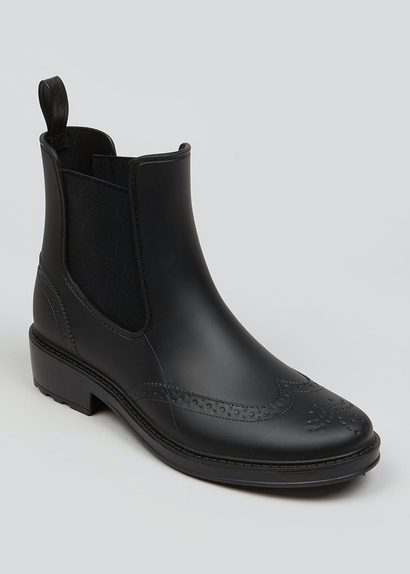 Black Ankle Length Chelsea Wellies