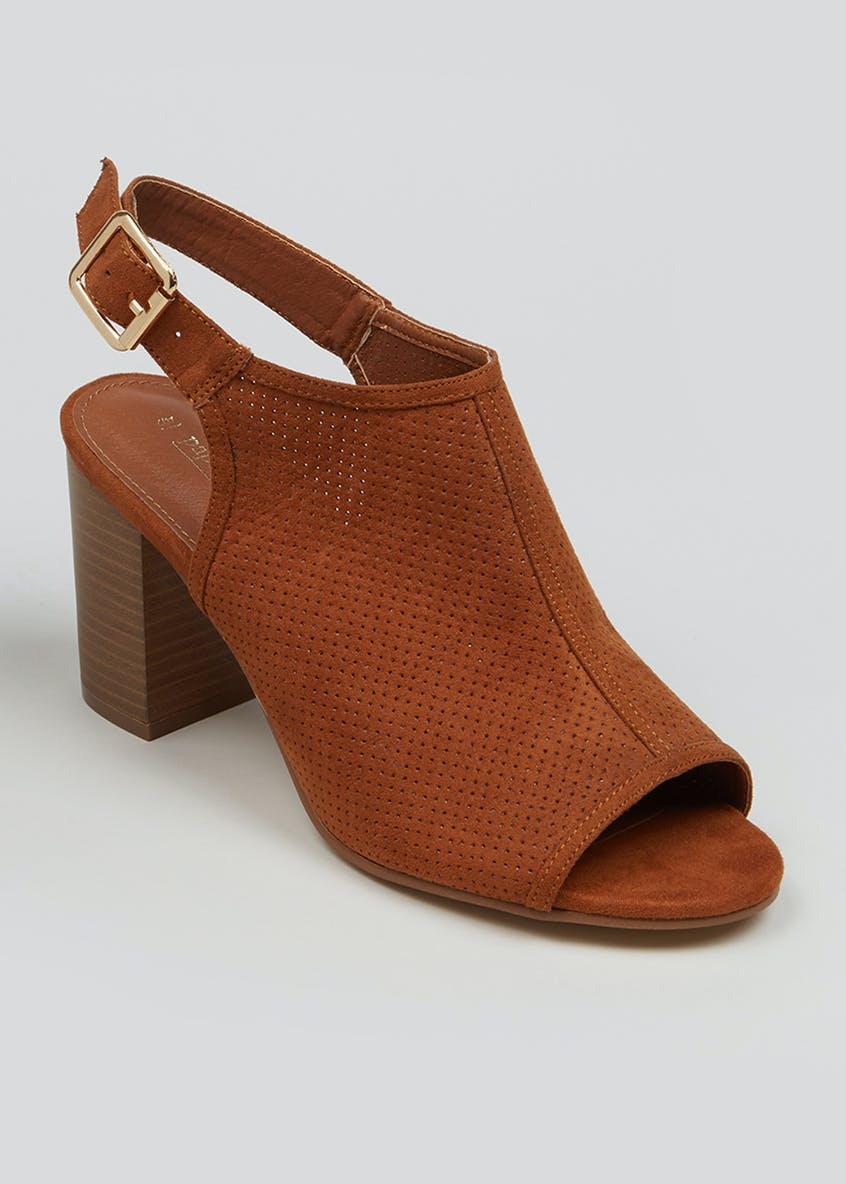 Open Toe Block Heel Shoe Boots