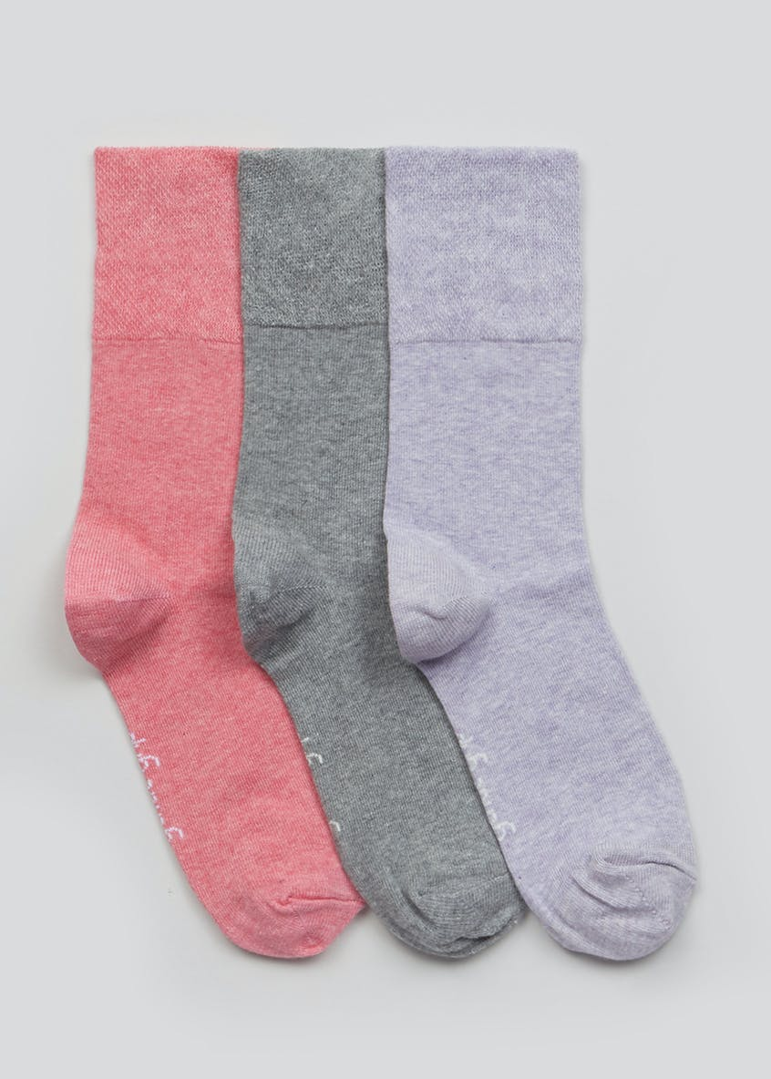 3 Pack Gentle Grip Socks
