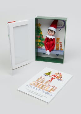 Christmas Elf On The Shelf Girl (31cm x 27cm x  5cm)
