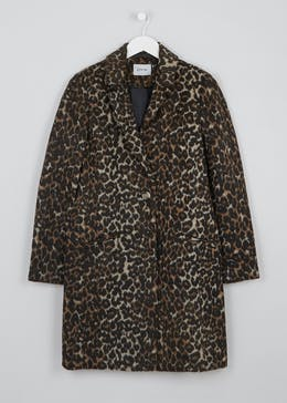 Animal Print Formal Coat