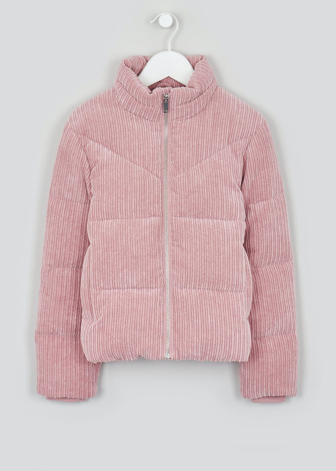 Girls Candy Couture Pink Cord Padded Jacket (9-16yrs)