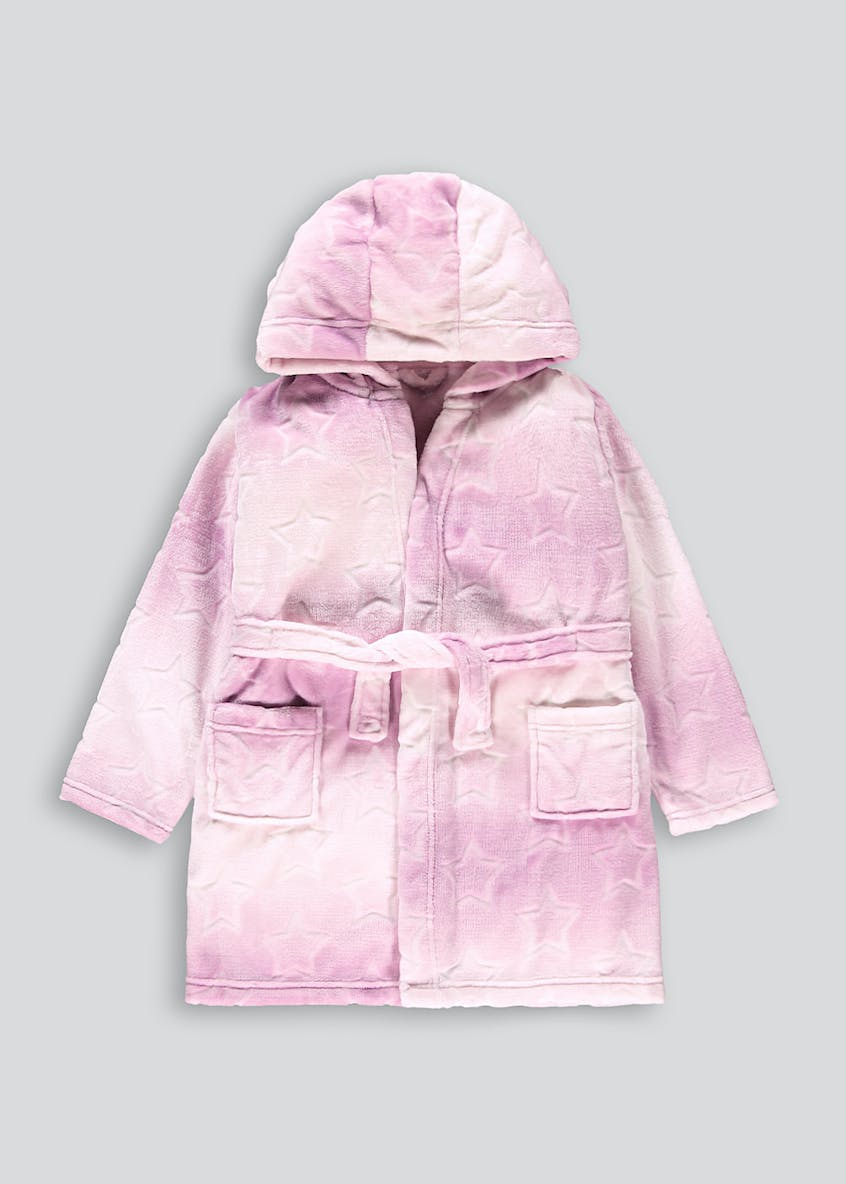 Girls Neon Star Dressing Gown (4-13yrs)