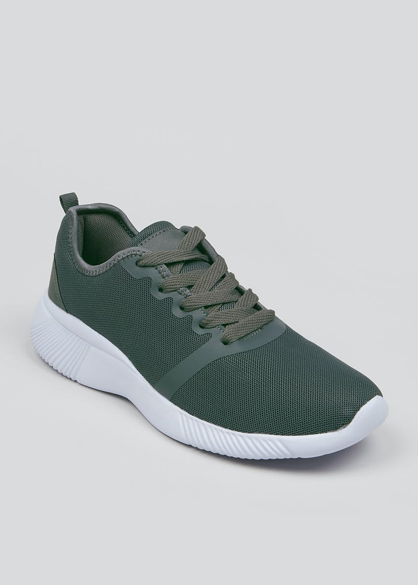 US Athletic Grey Knitted Trainers