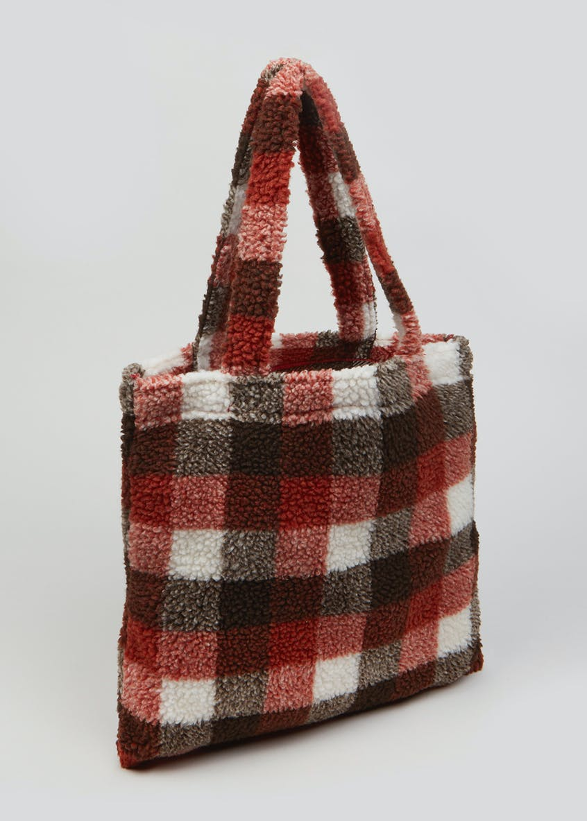 Teddy Check Shopper Bag (39cm x 39cm)