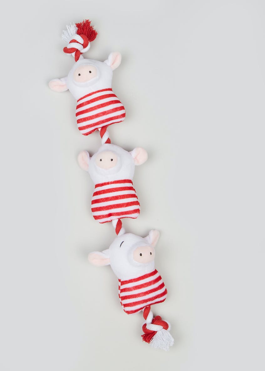 Christmas Pigs In Blankets Rope Dog Toy